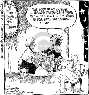 Comic Strip Dave Coverly  Speed Bump 2007-04-17 bad news
