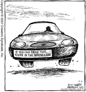 Cartoonist Dave Coverly  Speed Bump 2007-05-05 highway