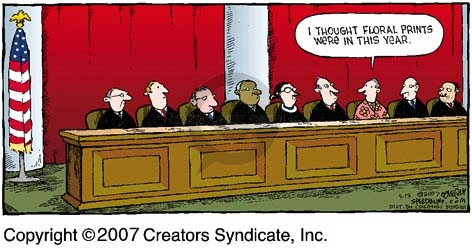 Cartoonist Dave Coverly  Speed Bump 2007-05-13 Supreme Court