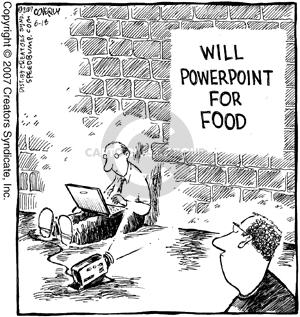 Will PowerPoint for food.