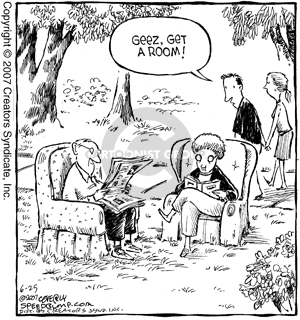 Comic Strip Dave Coverly  Speed Bump 2007-06-25 affection