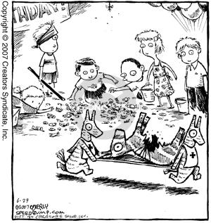 Comic Strip Dave Coverly  Speed Bump 2007-06-29 first aid