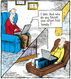 Cartoonist Dave Coverly  Speed Bump 2007-07-02 laptop