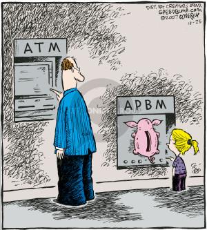 Comic Strip Dave Coverly  Speed Bump 2007-10-25 bank teller