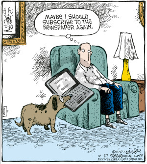 Cartoonist Dave Coverly  Speed Bump 2007-10-29 laptop