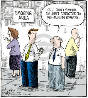 Cartoonist Dave Coverly  Speed Bump 2007-11-23 smoking
