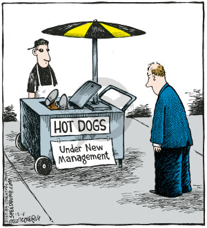 Comic Strip Dave Coverly  Speed Bump 2007-12-06 food cart