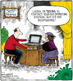 Cartoonist Dave Coverly  Speed Bump 2008-03-04 computer software