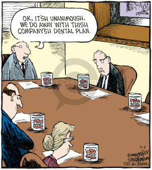 Cartoonist Dave Coverly  Speed Bump 2008-03-06 executive