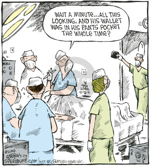 Comic Strip Dave Coverly  Speed Bump 2008-03-29 operating room