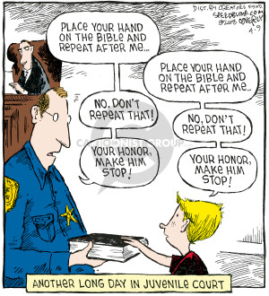 Cartoonist Dave Coverly  Speed Bump 2008-04-09 law