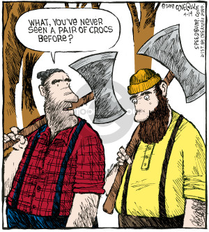 Comic Strip Dave Coverly  Speed Bump 2008-04-14 forestry