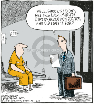 Comic Strip Dave Coverly  Speed Bump 2008-06-10 death penalty