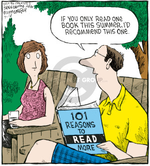 Cartoonist Dave Coverly  Speed Bump 2008-07-16 book recommendation