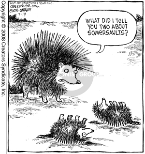 Comic Strip Dave Coverly  Speed Bump 2008-07-19 porcupine