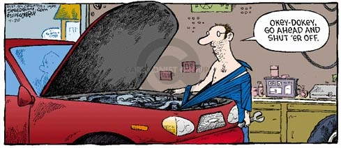Cartoonist Dave Coverly  Speed Bump 2008-07-20 engine