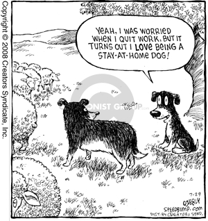 Comic Strip Dave Coverly  Speed Bump 2008-07-29 quit