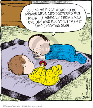 Comic Strip Dave Coverly  Speed Bump 2008-08-11 first day