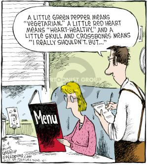 Comic Strip Dave Coverly  Speed Bump 2008-10-04 vegetarian restaurant