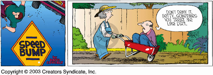 Comic Strip Dave Coverly  Speed Bump 2003-02-09 wife