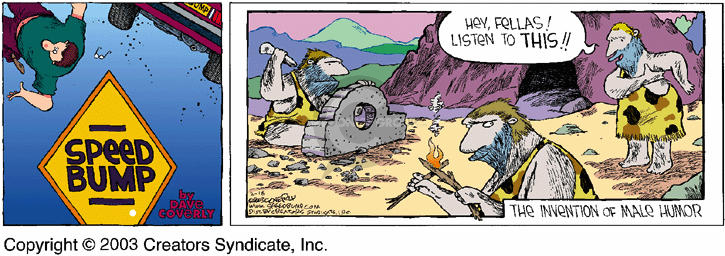Comic Strip Dave Coverly  Speed Bump 2003-02-16 cave