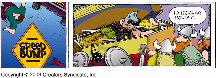 Comic Strip Dave Coverly  Speed Bump 2003-02-23 viking
