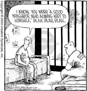 Comic Strip Dave Coverly  Speed Bump 2003-02-27 cellmate
