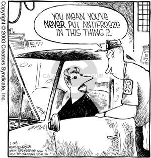 Cartoonist Dave Coverly  Speed Bump 2003-02-28 vehicle maintenance