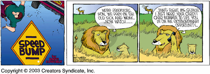 Comic Strip Dave Coverly  Speed Bump 2003-03-02 lion