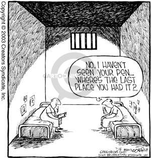 Cartoonist Dave Coverly  Speed Bump 2003-07-16 prisoner