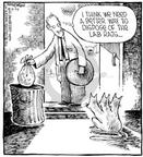 Cartoonist Dave Coverly  Speed Bump 2000-09-24 removal