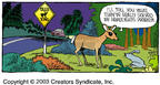 Cartoonist Dave Coverly  Speed Bump 2003-11-09 wildlife