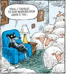 Cartoonist Dave Coverly  Speed Bump 2009-03-18 telecommuting