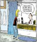 Cartoonist Dave Coverly  Speed Bump 2009-04-03 shower