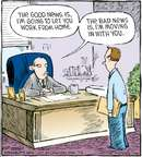 Cartoonist Dave Coverly  Speed Bump 2009-07-06 telecommuting