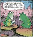 Cartoonist Dave Coverly  Speed Bump 2009-10-21 marketing