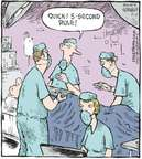 Cartoonist Dave Coverly  Speed Bump 2009-11-11 dropping