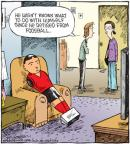 Cartoonist Dave Coverly  Speed Bump 2011-03-01 television cartoon