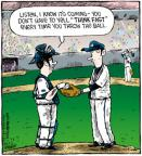 Cartoonist Dave Coverly  Speed Bump 2011-07-06 catch baseball