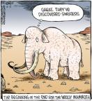 Cartoonist Dave Coverly  Speed Bump 2011-12-13 extinct animal