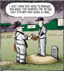 Cartoonist Dave Coverly  Speed Bump 2012-04-25 baseball pitcher