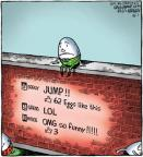 Cartoonist Dave Coverly  Speed Bump 2012-10-01 jump