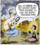 Cartoonist Dave Coverly  Speed Bump 2013-02-11 security