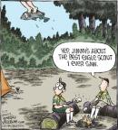 Cartoonist Dave Coverly  Speed Bump 2013-07-17 boy scout
