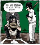 Cartoonist Dave Coverly  Speed Bump 2013-08-01 baseball pitch