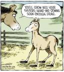 Comic Strip Dave Coverly  Speed Bump 2013-11-01 horseshoe