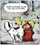 Cartoonist Dave Coverly  Speed Bump 2014-03-05 fire