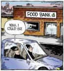 Cartoonist Dave Coverly  Speed Bump 2014-03-18 food bank
