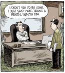 Cartoonist Dave Coverly  Speed Bump 2014-03-27 job