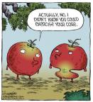 Cartoonist Dave Coverly  Speed Bump 2014-05-03 apple core